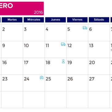 Calendario de comercio electrónico Febrero 2016
